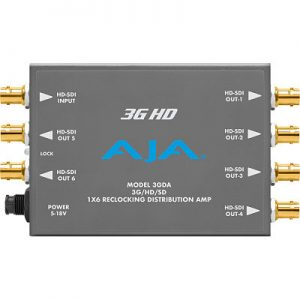 3GDA 1×6 3G/HD/SD Reclocking Distribution Amplifier