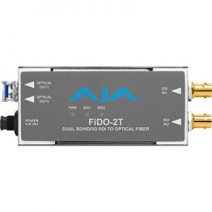 FiDO-2T 2-Channel 3G-SDI to Single-Mode LC Fiber Transmitter