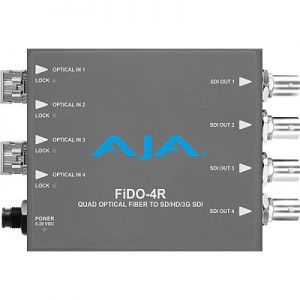 FiDO-4R 4-Channel Single-Mode LC Fiber to 3G-SDI Receiver