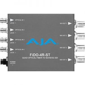 FiDO-4R-ST 4-Channel Single-Mode ST Fiber to 3G-SDI Receiver