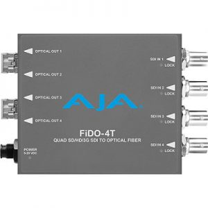 FiDO-4T 4-Channel 3G-SDI to Single-Mode LC Fiber Transmitter
