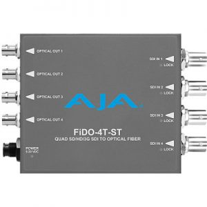 FiDO-4T-ST 4-Channel 3G-SDI to Single-Mode ST Fiber Transmitter