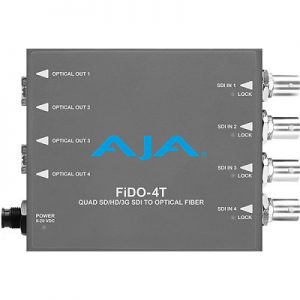 FiDO-4T-X 4-Channel 3G-SDI to Single-Mode LC Fiber Transmitter