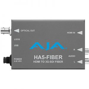 HA5-Fiber HDMI to 3G-SDI over Fiber Video and Audio Converter